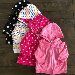 4pk! Baby Girl NB/0-3/3m sweater bundle